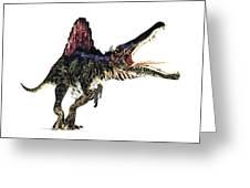 Spinosaurus Dinosaur, Artwork Greeting Card by Animate4.comscience Photo Libary