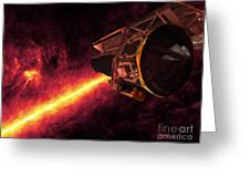 Spitzer Seen Against The Infrared Sky Greeting Card