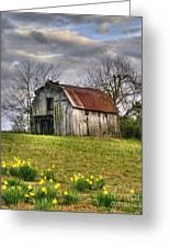 Spring Time Barn Greeting Card