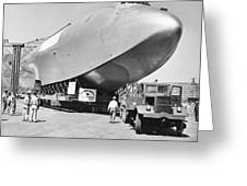 Spruce Goose Hull On The Move Greeting Card