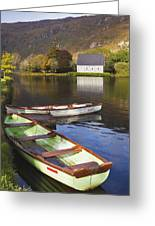 St. Finbarres Oratory And Rowing Boats Greeting Card