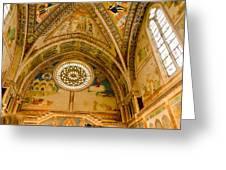 St Francis Basilica   Assisi Italy Greeting Card