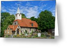 St Laurence Church Cowley Middlesex Greeting Card