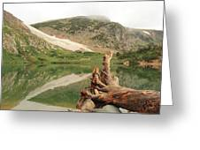 St. Mary's Lake And Glacier Greeting Card