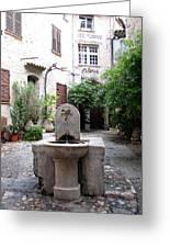 St. Paul De Vence Fountain Greeting Card