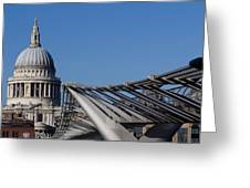 St Pauls Cathedral And The Millenium Bridge  Greeting Card