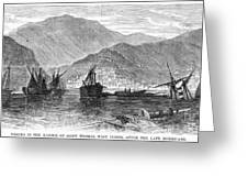 St. Thomas: Hurricane, 1867 Greeting Card by Granger