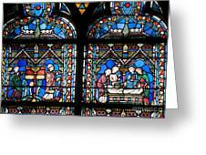 Stained Glass Window Of Notre Dame De Paris France
