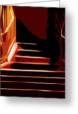 Stairs At Palace Avenue Greeting Card