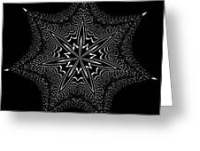 Star Fish Kaleidoscope Greeting Card