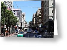 Stockton Street Tunnel In San Francisco Greeting Card