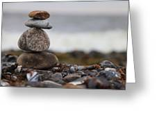 Stones At The Sea Greeting Card