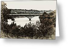 Strawberry Mansion Bridge From Laurel Hill Greeting Card