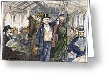 Streetcar, 1876 Greeting Card by Granger