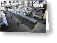 Structural Steel Construction. Metal Greeting Card