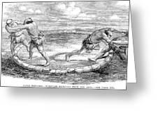 Sumo Wrestling, 1853 Greeting Card