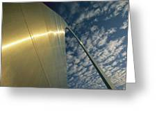 Sunlight Beams On The Gateway Arch Greeting Card