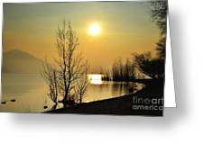 Sunlight Over A Lake Greeting Card
