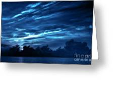 Sunrise In Blue Greeting Card