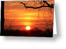 Sunrise In Tennessee Greeting Card