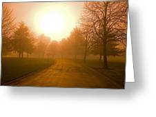 Sunrise Over Country Road, Oregon Greeting Card