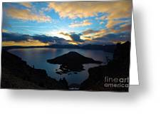 Sunrise Over The Wizard Greeting Card