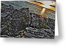 Sunset Please On The Rocks Greeting Card