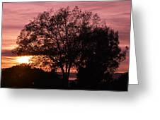 Sunset Greeting Card by Saifon Anaya