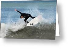 Surfing 395 Greeting Card by Joyce StJames