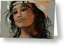 Suzan - Reflective Mood Greeting Card