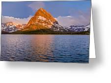 Swiftcurrent Lake Panorama Greeting Card