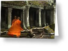 Ta Prohm Cambodia Greeting Card