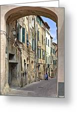 Taggia In Liguria Greeting Card