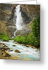 Takakkaw Falls Waterfall In Yoho National Park Canada Greeting Card