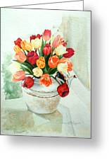 Tea For Tulips Greeting Card