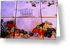 Teapot And Berries Greeting Card
