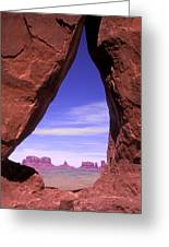Teardrop Arch Monument Valley Greeting Card
