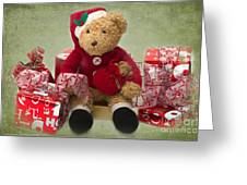 Teddy At Christmas Greeting Card
