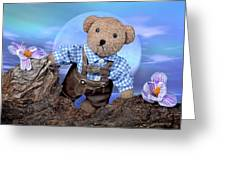 Teddy On Tour Greeting Card