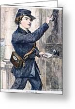 Telegraph Messenger, 1869 Greeting Card