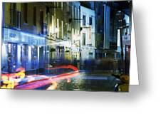 Temple Bar, Dublin, Co Dublin, Ireland Greeting Card