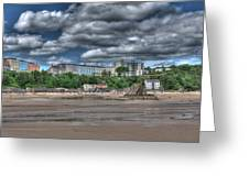 Tenby North Beach Greeting Card
