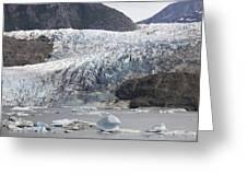 Terminal Moraine And Glacial Lake Greeting Card