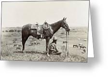 Texas: Cowboy, C1910 Greeting Card
