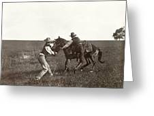 Texas: Cowboys, C1908 Greeting Card