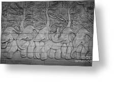 Thai Style Handcraft Of Elephant Greeting Card