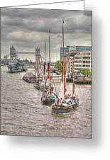 Thames Barges Tower Bridge 2012 Greeting Card