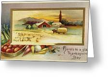 Thanksgiving Card, C1910 Greeting Card