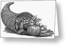 Thanksgiving: Cornucopia Greeting Card
