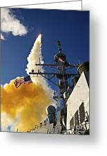 The Aegis-class Destroyer Uss Hopper Greeting Card